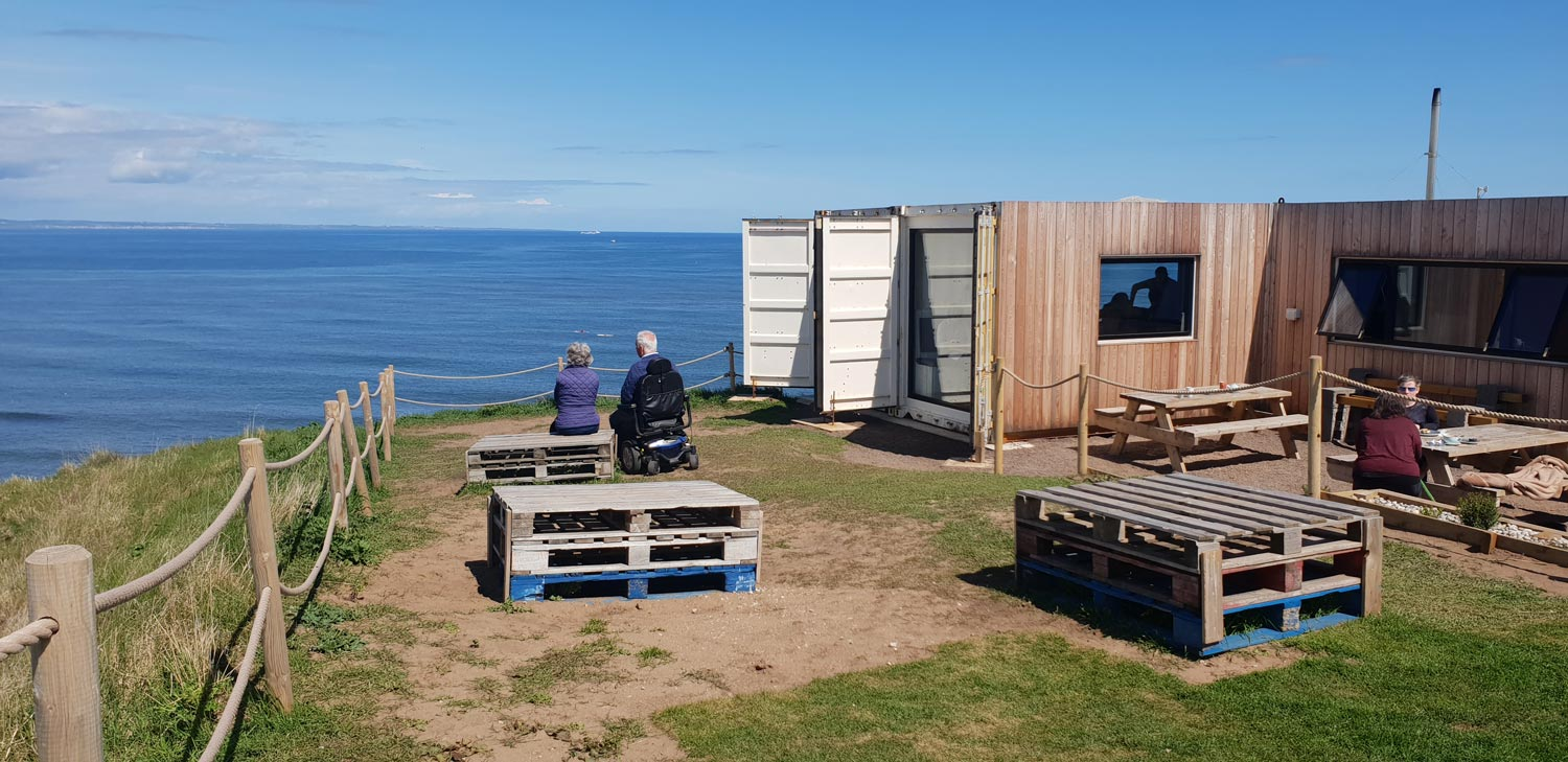 The Drift container conversion in North Berwick