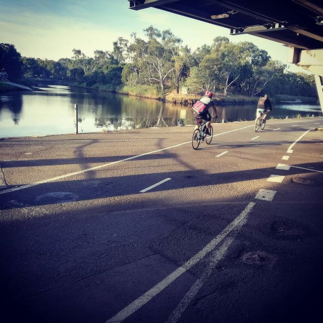 Gotta love the bike commute. Great morning for it!
