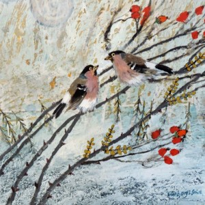 Ingebjorg Smith - rose hip bullfinches.jpg