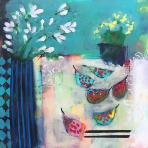 Primulas and Figs II Painting - Relton Marine.jpg
