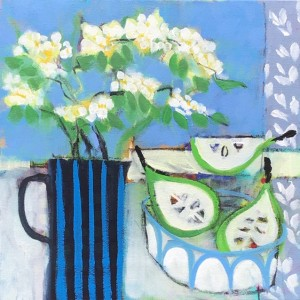 Pears and Blue Bowl Painting - Relton Marine.jpg