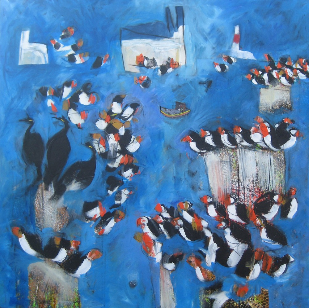 Puffins - Sold