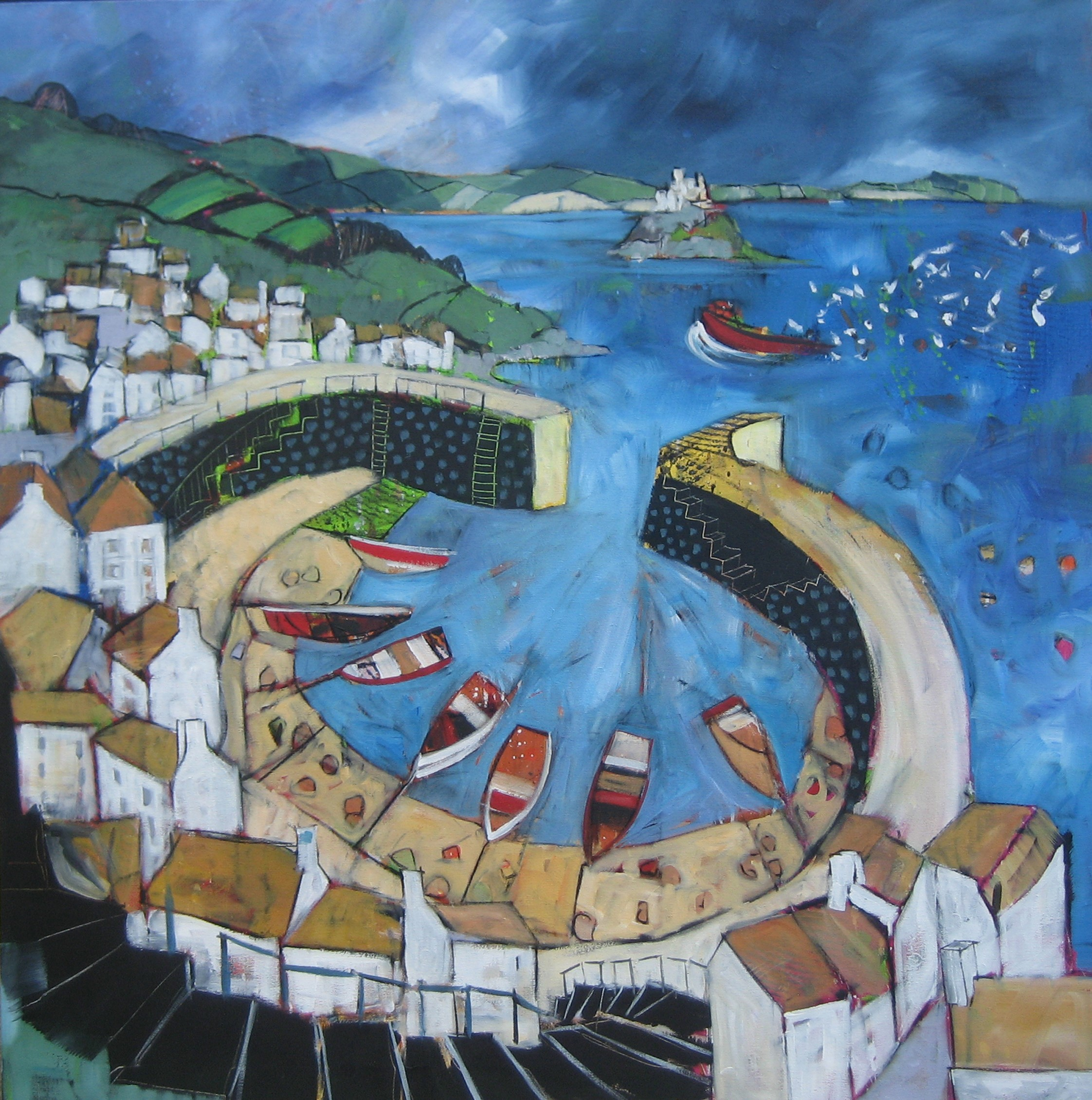 Mousehole Harbour - Sold