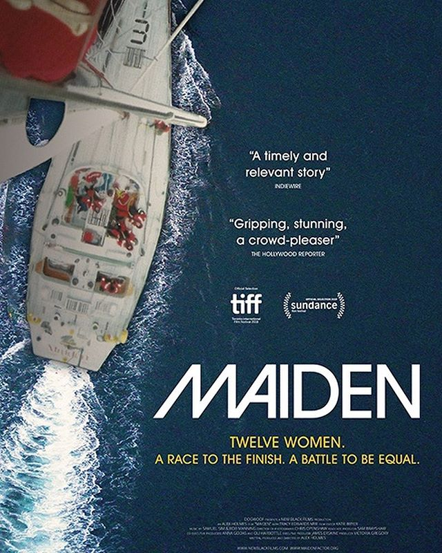 We're very excited to announce, #Maiden as our opening night film! Check out our story for the complete trailer PLUS click the link in our bio for tickets & info about our VIP opening night party.. can't wait to see you all there! 👏🏼 📽 About the film: In the late 1980s, amateur British sailor Tracy Edwards decided she'd had enough of being dismissed and belittled as the only woman on the seafaring crews she'd participated in. Setting her sights on the upcoming Whitbread Round the World Race—a staggering 40,000-nautical-mile circumnavigation of the earth that few boats dared tackle—Tracy assembled the world's first international all-female sailing crew and entered the competition. As they weathered not only life-threatening high seas but also a storm of sexism in the media, this inspiring group of women had to rely on their own pure resilience—and each other—to prove the naysayers and skeptics wrong. What they hadn't quite expected, however, was how their expedition would come to signify so much more than just a race to the finish line.