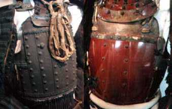 These two are  tatehagi dō  (vertically rivetted cuirasses).