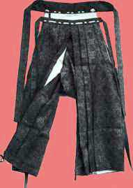 Example showing the opening in the crotch of the  hakama .