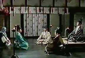 An indoor audience.