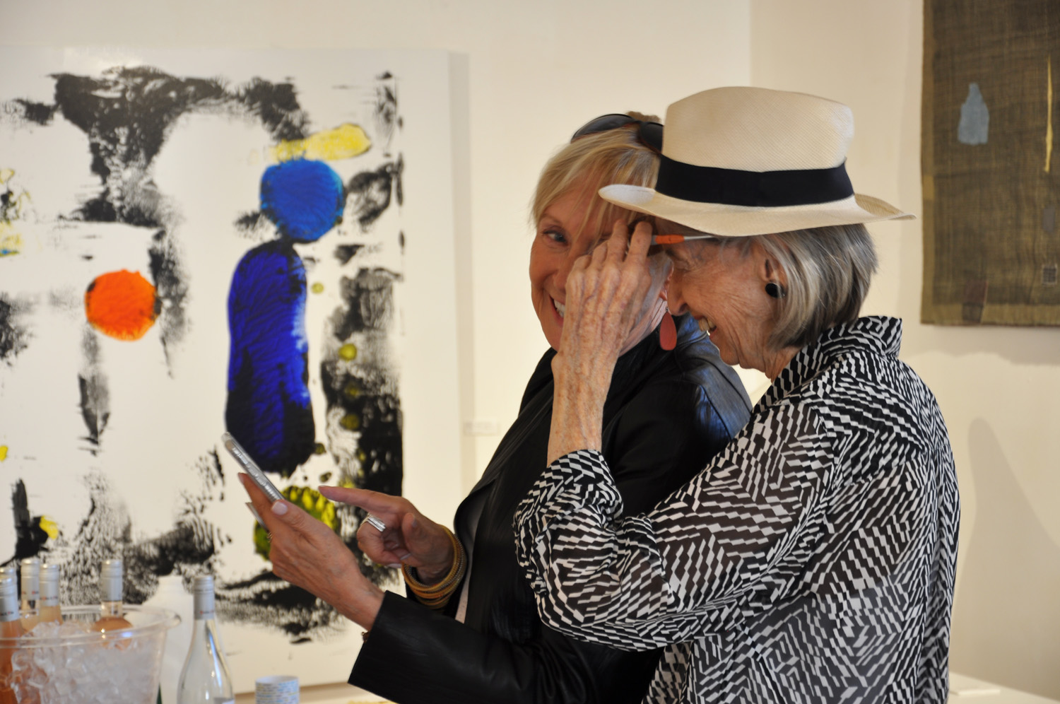 Susan Rodgers (right) gallery visit