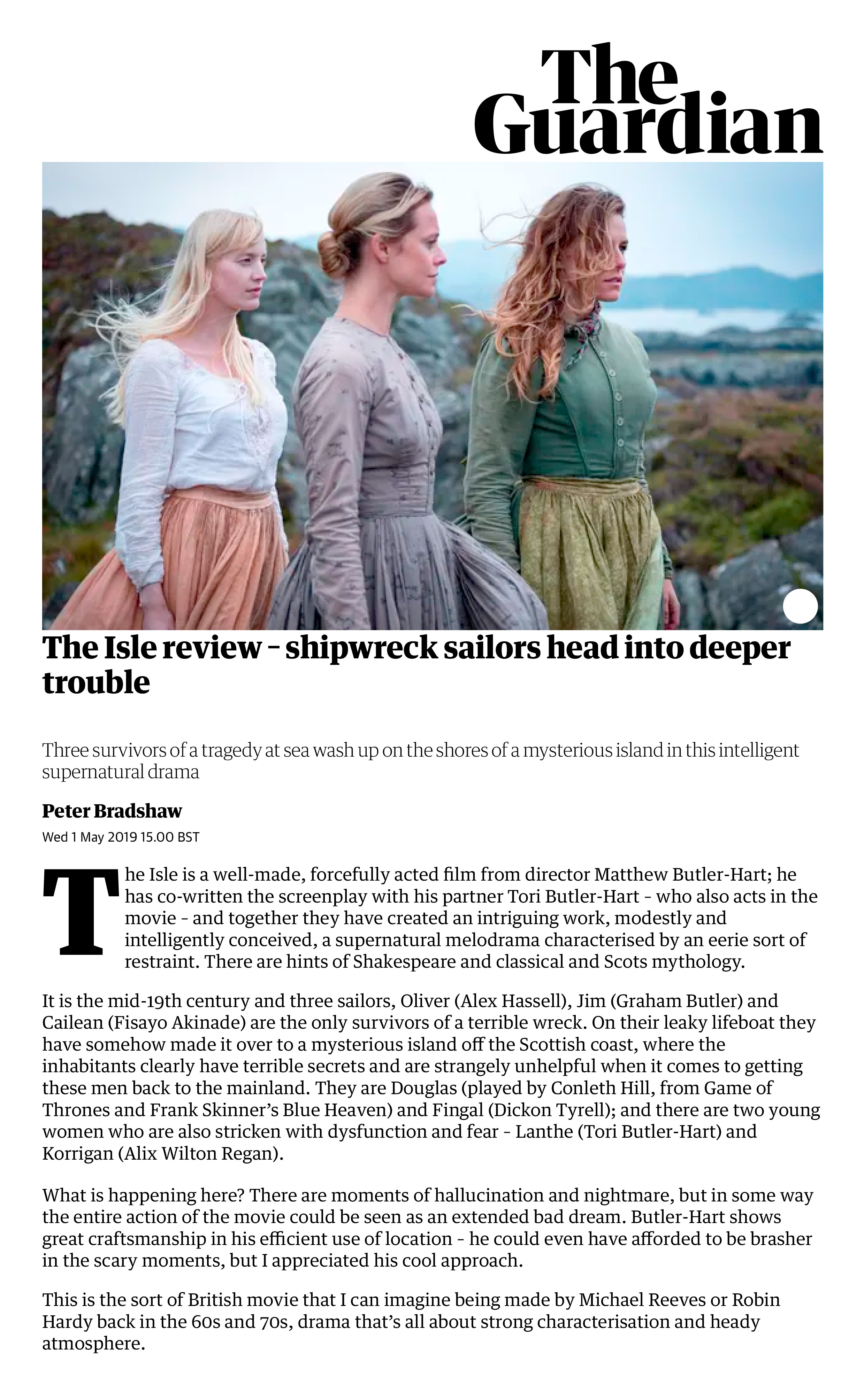 The Isle review – shipwreck sailors head into deeper trouble _ Film _ The Guardian.jpg