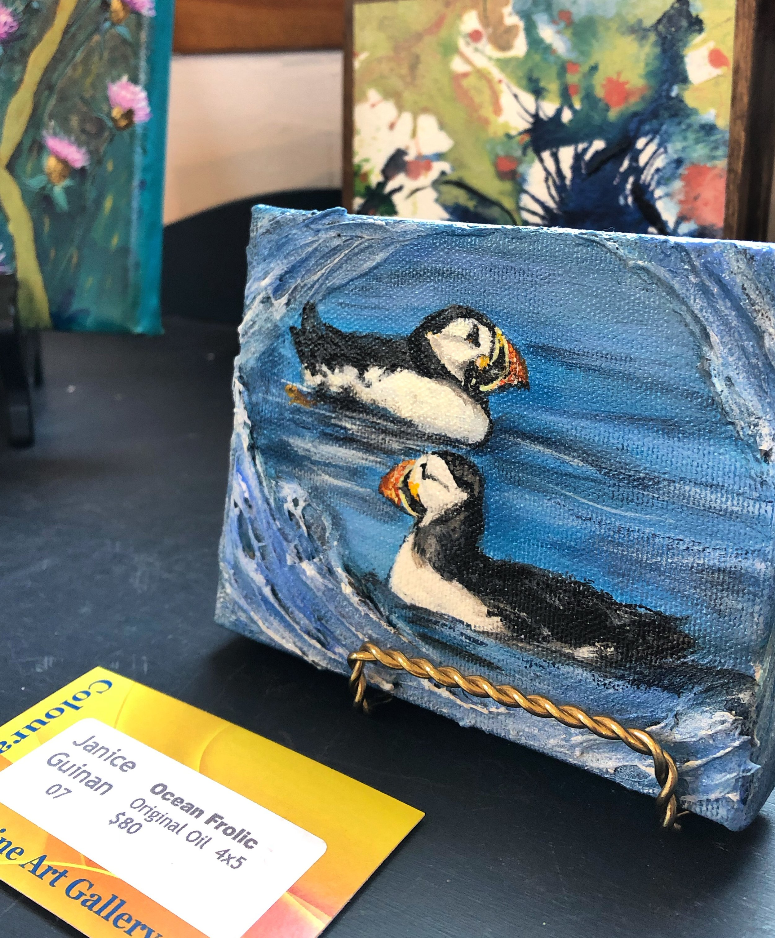 Mini Puffin Painting