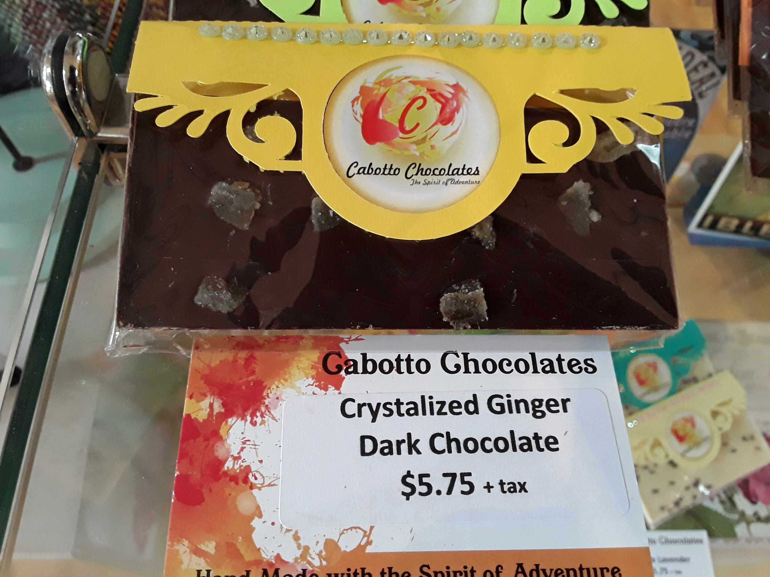 Crystalized Ginger Dark Chocolate