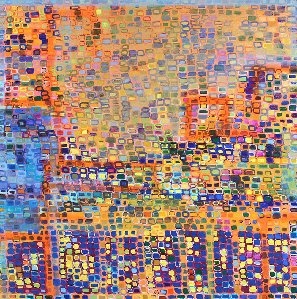Childhood Revisited (2014), 127 x 127 cm, oil on linen, sold