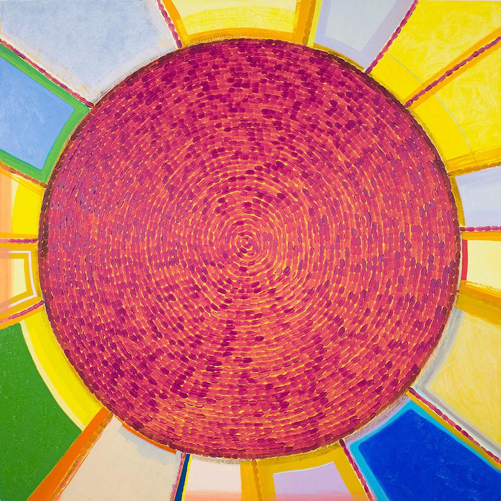 Sun (2015), 127 x 127 cm, oil on linen, sold