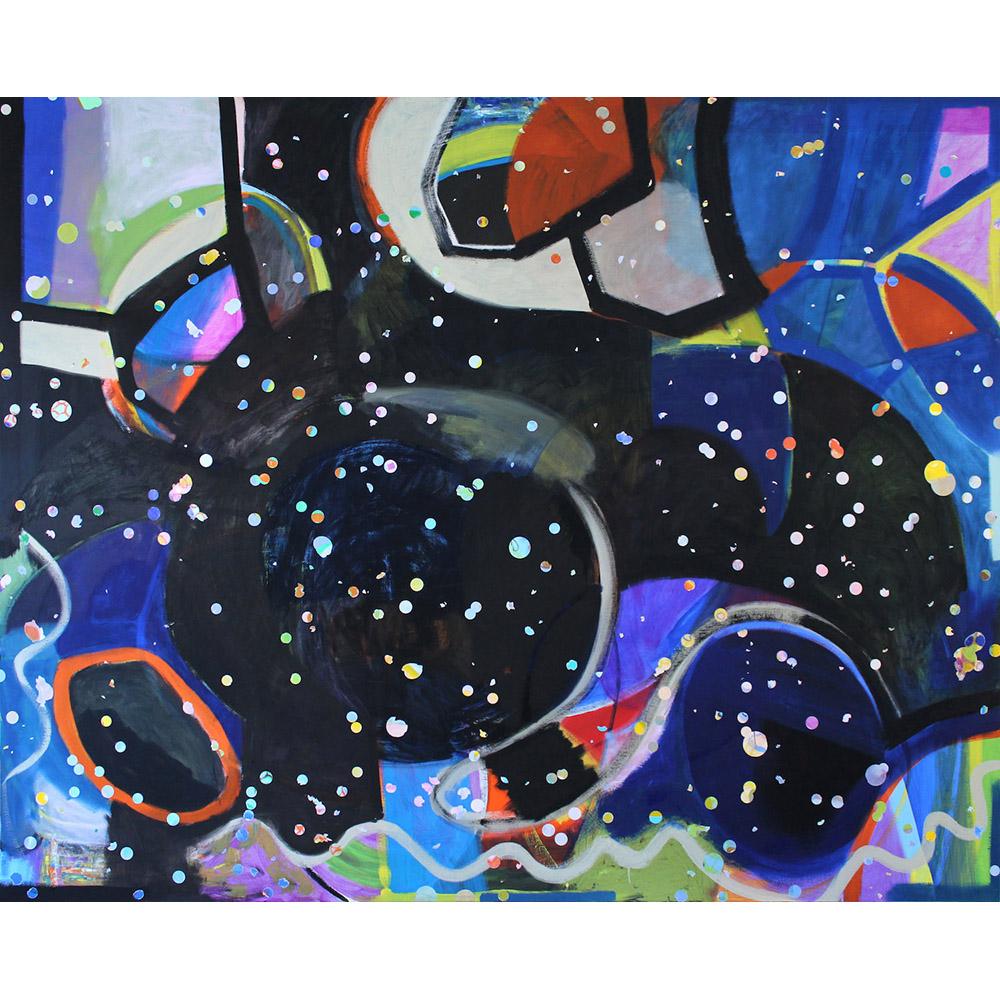 Data, Disorientation, the Big Bang (2015), 244 x 305 cm, oil on linen