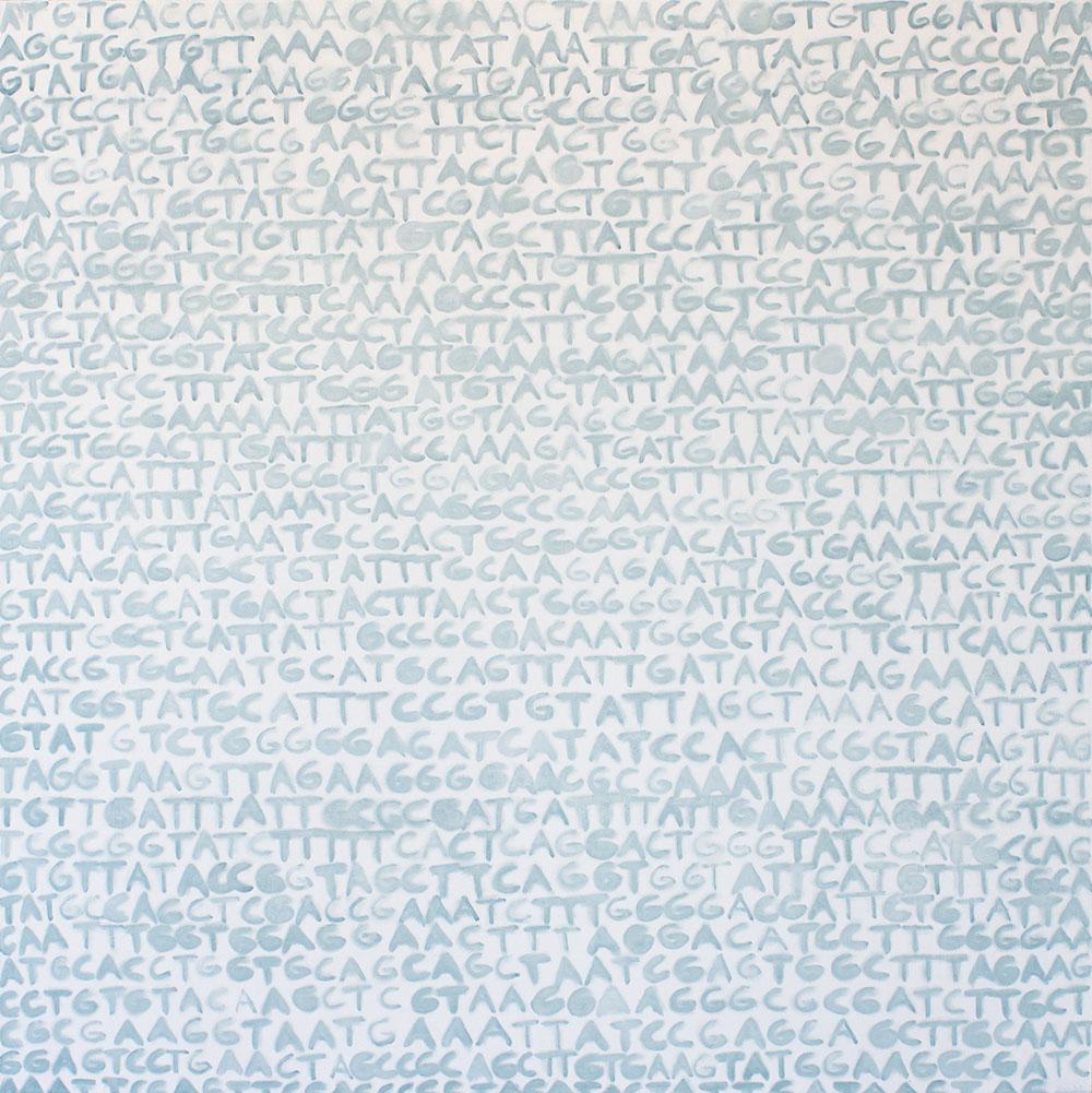 Wheat (RuBisCO) (2018), 125 x 125 cm, oil on linen