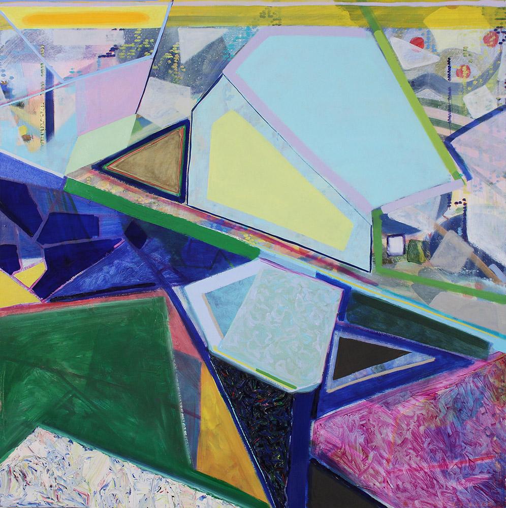 Baltic Sea (Ocean Computation) (2014), 127 x 127 cm, oil on linen, sold