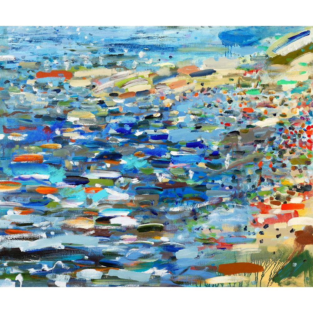 Beach (2011), 76 x 91,4 cm, oil on linen, sold