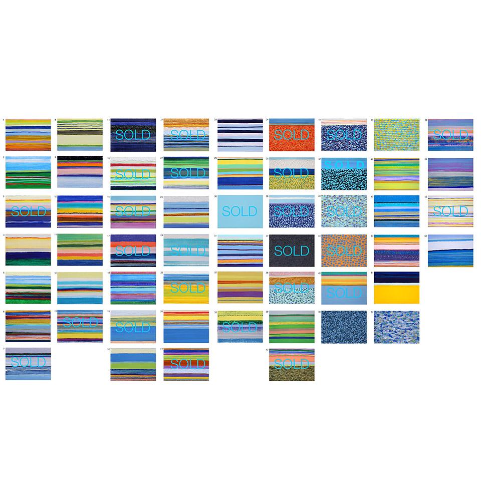 Inventory: Horizons (2014-2015), 12,7 x 17,8 cm each, oil on linen