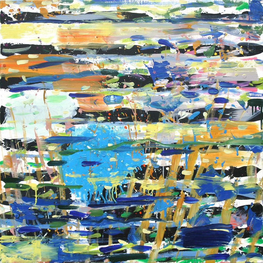 Forest Pond (2010), 76 x 76 cm, oil on linen, sold