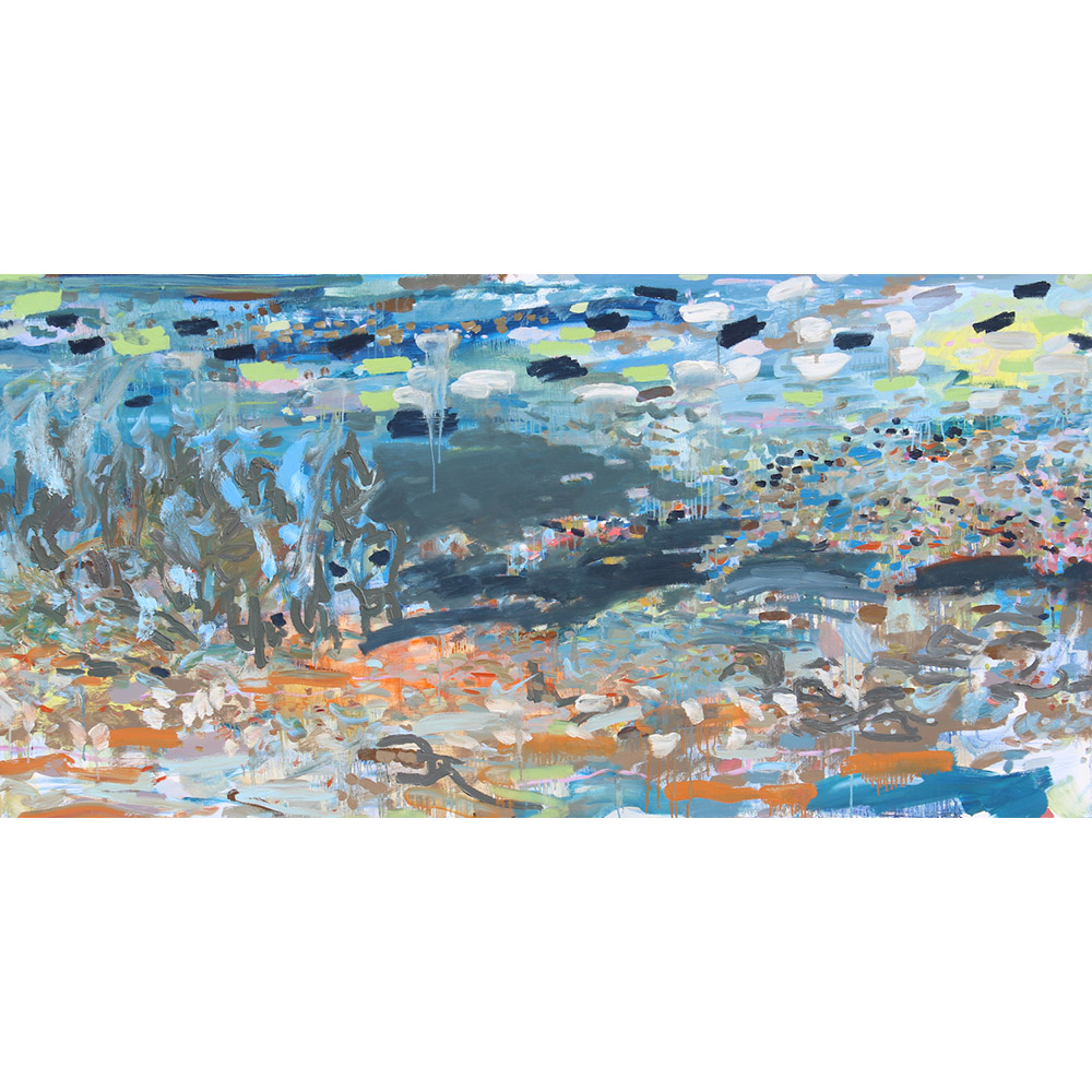 Ocean and I (2011), 91,4 x 182,8 cm, oil on linen, sold