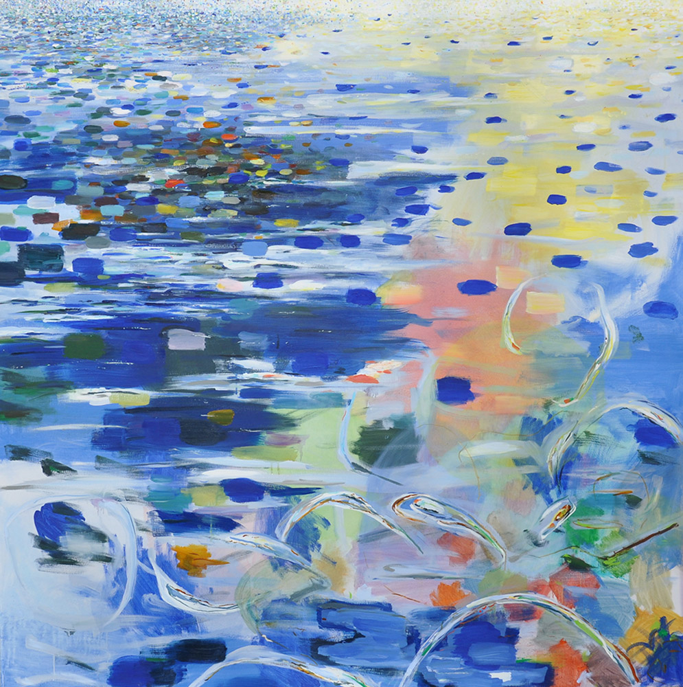 Water (2010), 137 x 137 cm, oil on linen, sold
