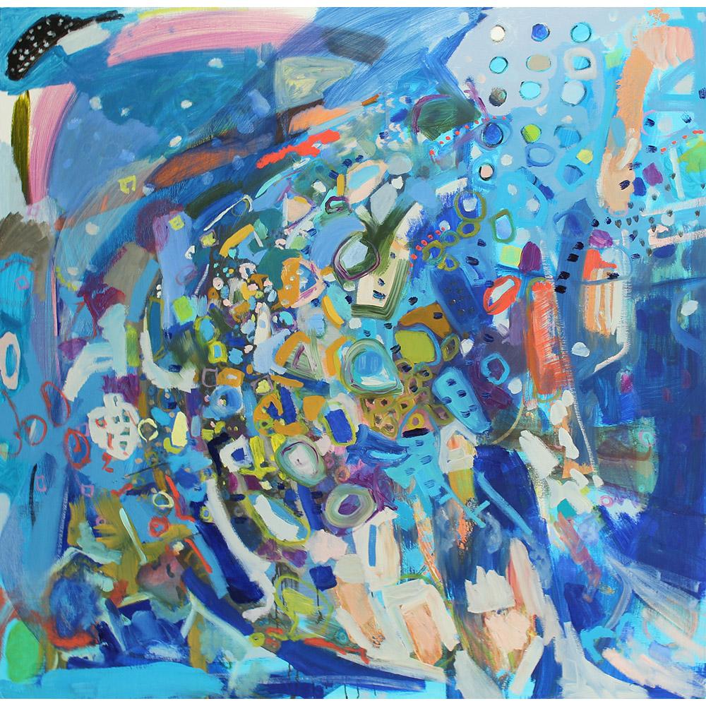 Whale Dreams (2013), 127 x 127 cm, oil on linen, sold