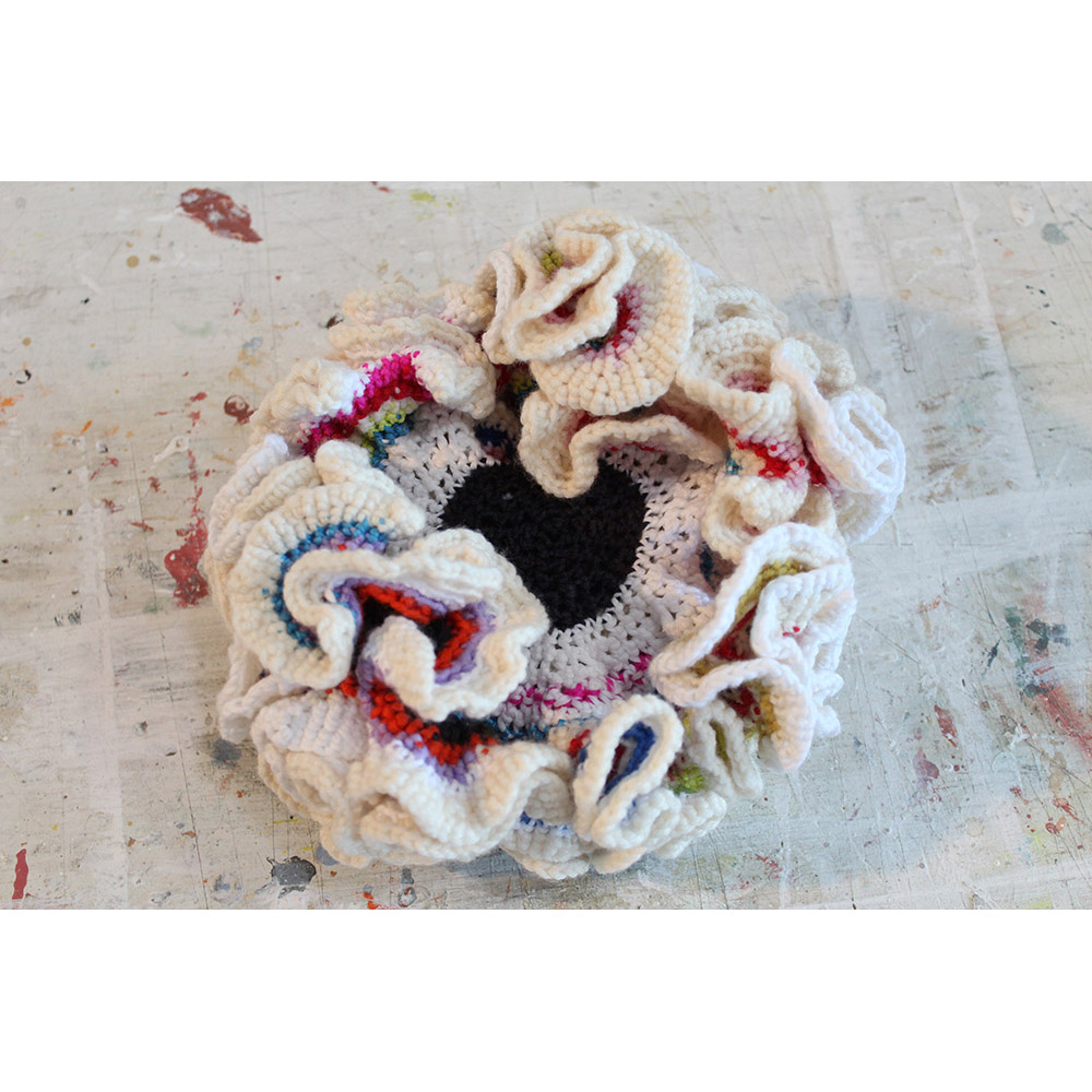 Bleached Coral (2014), diameter 20 cm, marino wool and cotton