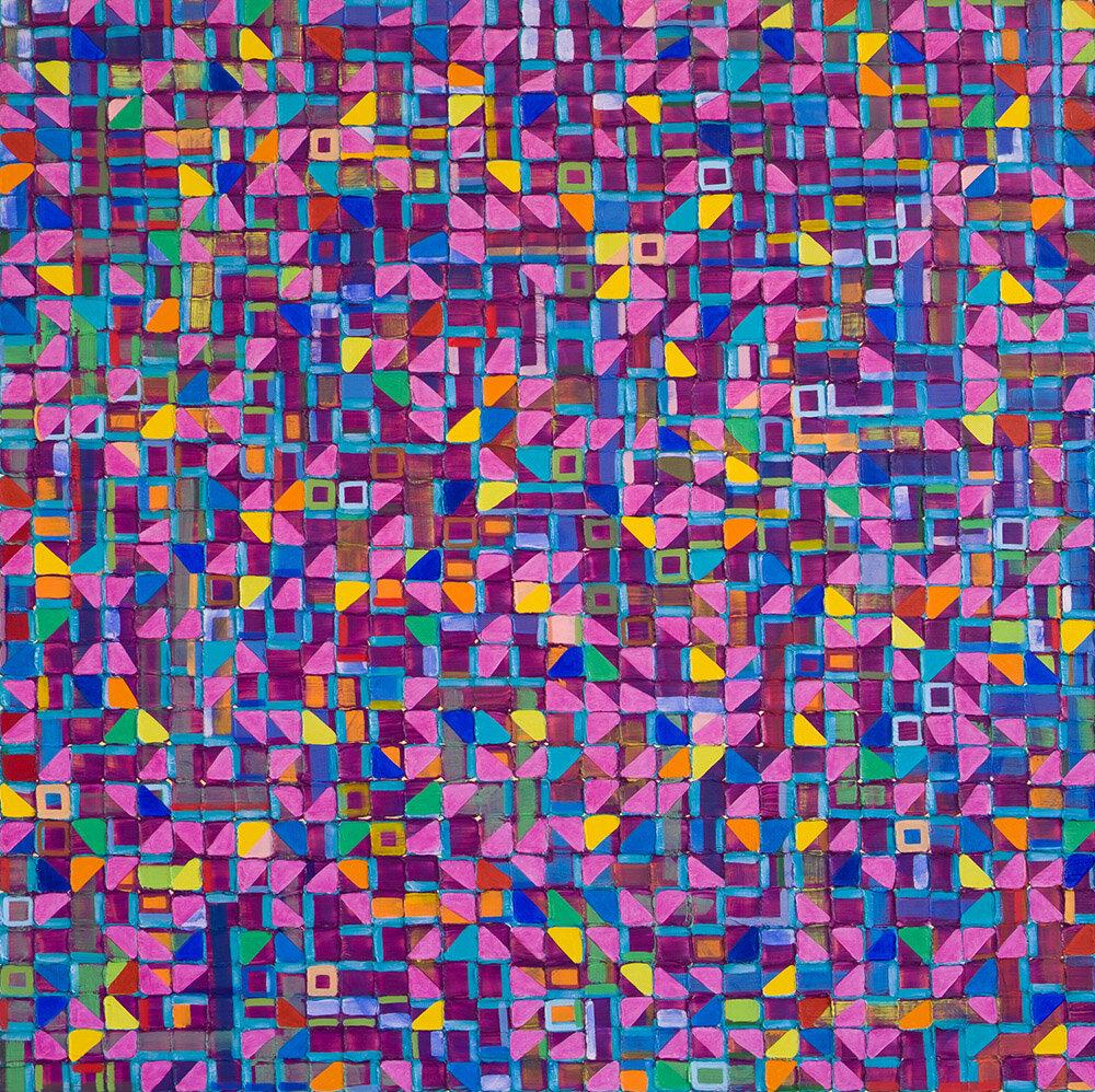 Carbon Assimilation (2019), 125 x 125 cm, oil on linen