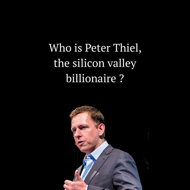 The silicon valley billionaire who was an early backer for Facebook, LinkedIn and Yelp.  #petertheil #startup #technews #startupnews