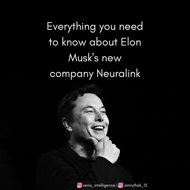 Elon Musk's latest brainchild - Neuralink - hopes to further human machine interface and the possibitlies are endless.  #tech #technews #neuralink #elonmusk #entrepreneur #techwear