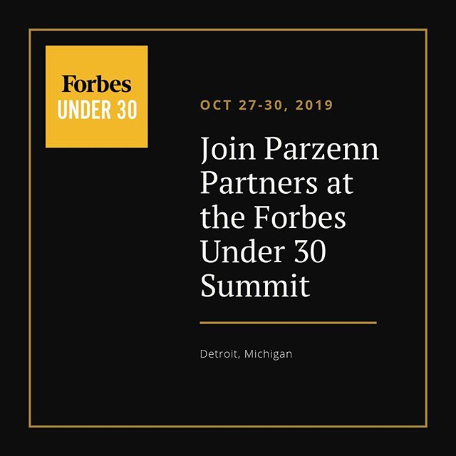 Such an honor to be a part of a great event like the Forbes Under 30. Truly humbling!