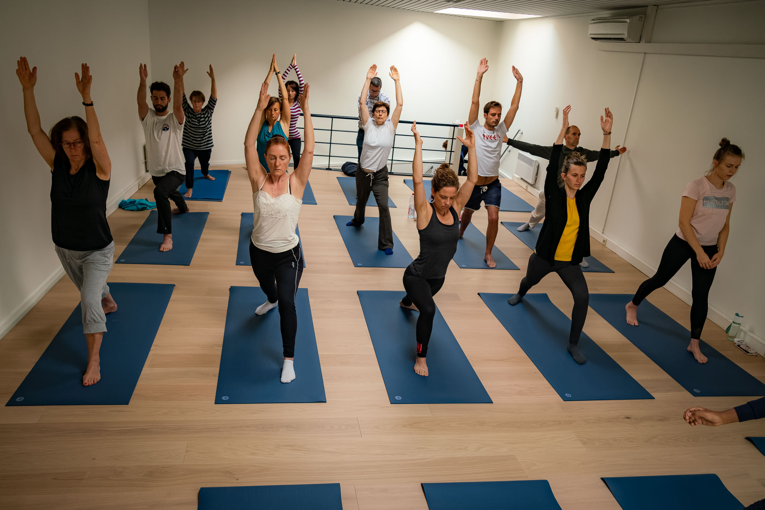 Yoga event in corporate