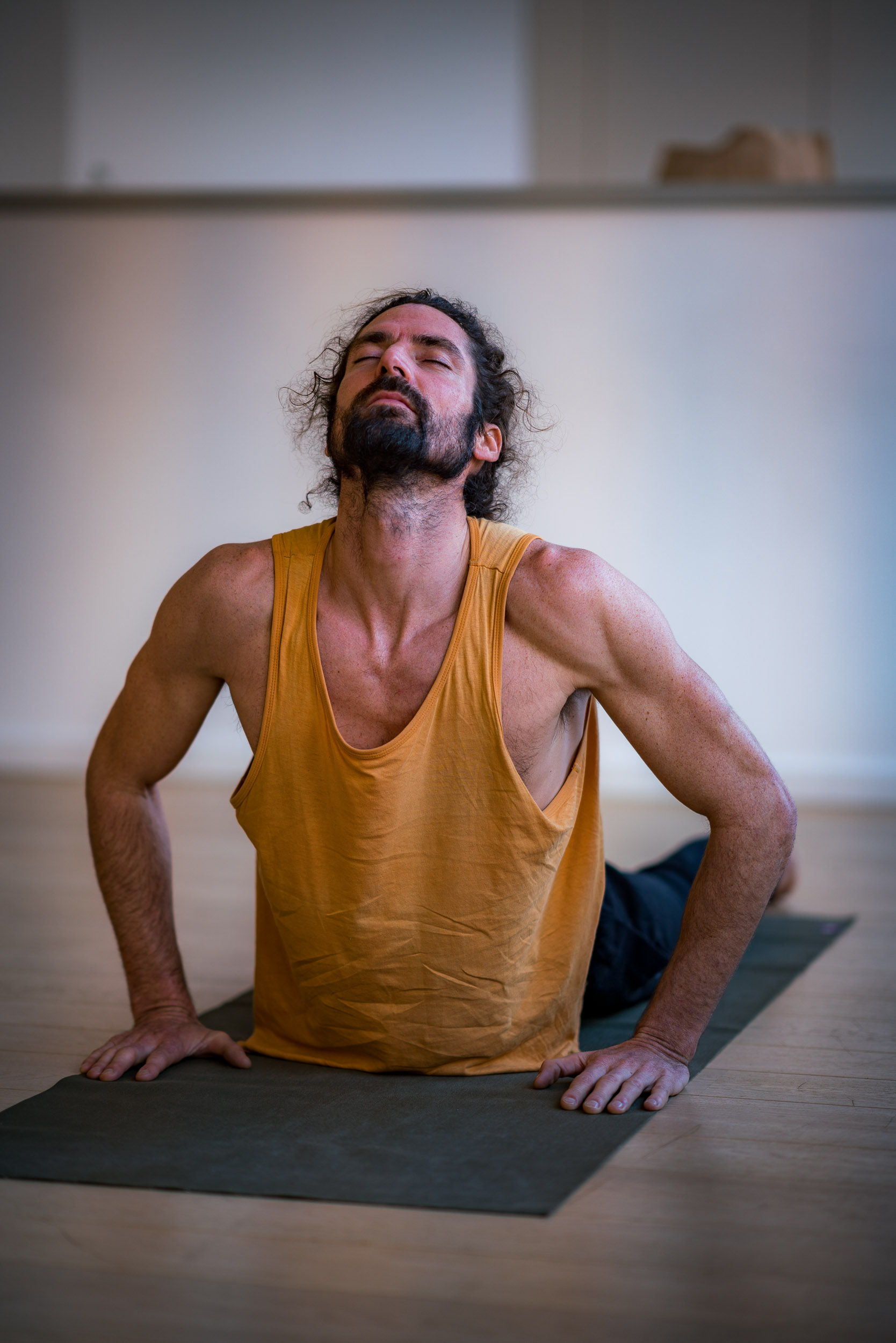 Yoga in a company done by a photographer in Brussels
