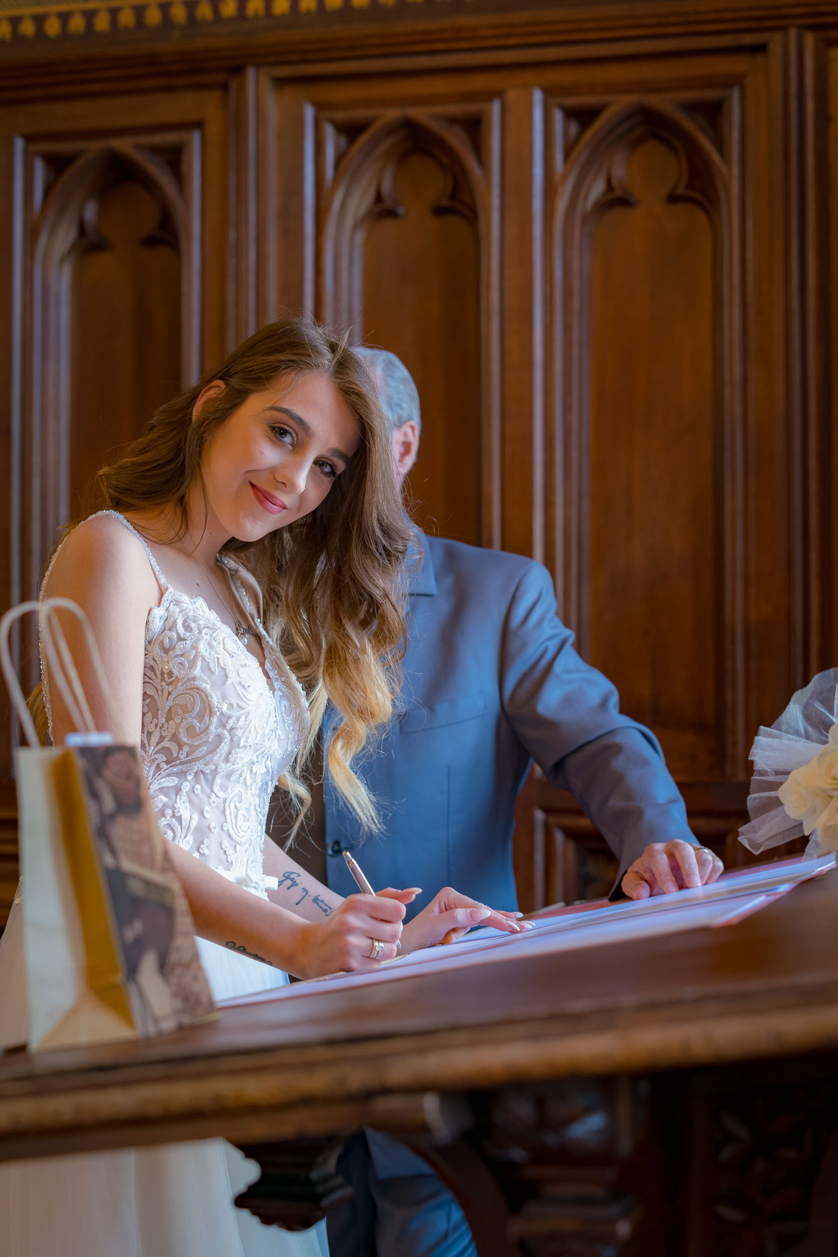 Photo of a civil wedding in Brussels by an event photographer