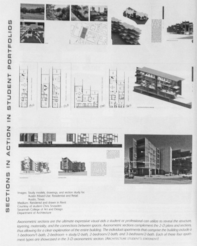 """7 years ago an architectural studio project of mine was published in 'Architectural Drawing: A Visual Compendium of Types and Methods"""" (photo also from 7 years ago...). This is one of two books my work has been published in. See project info in photo."""