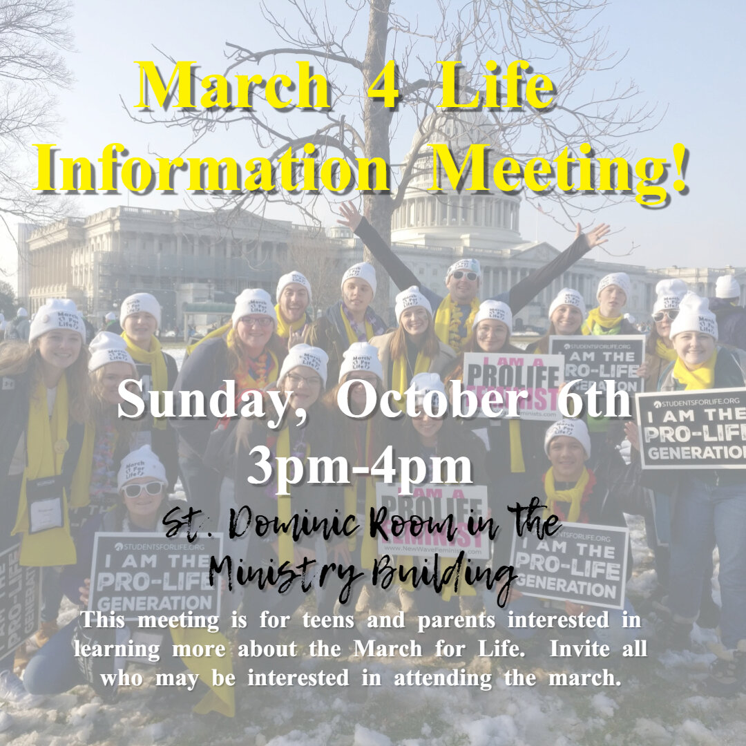 March for Life Information Meeting