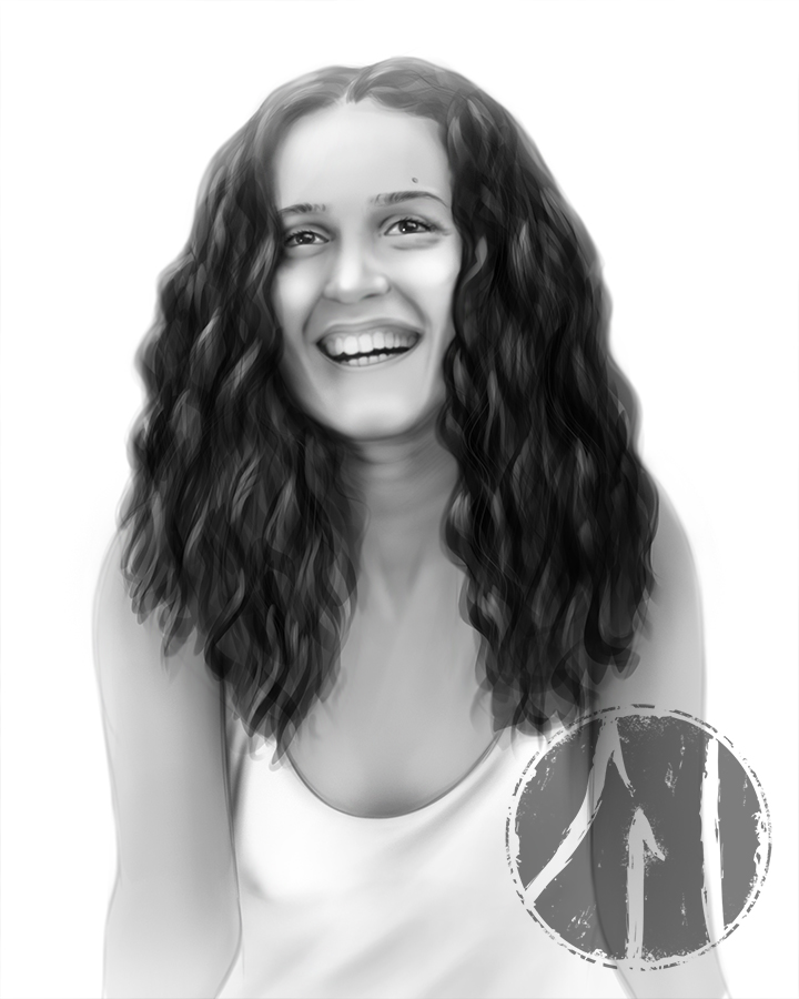 Digital pencil portrait