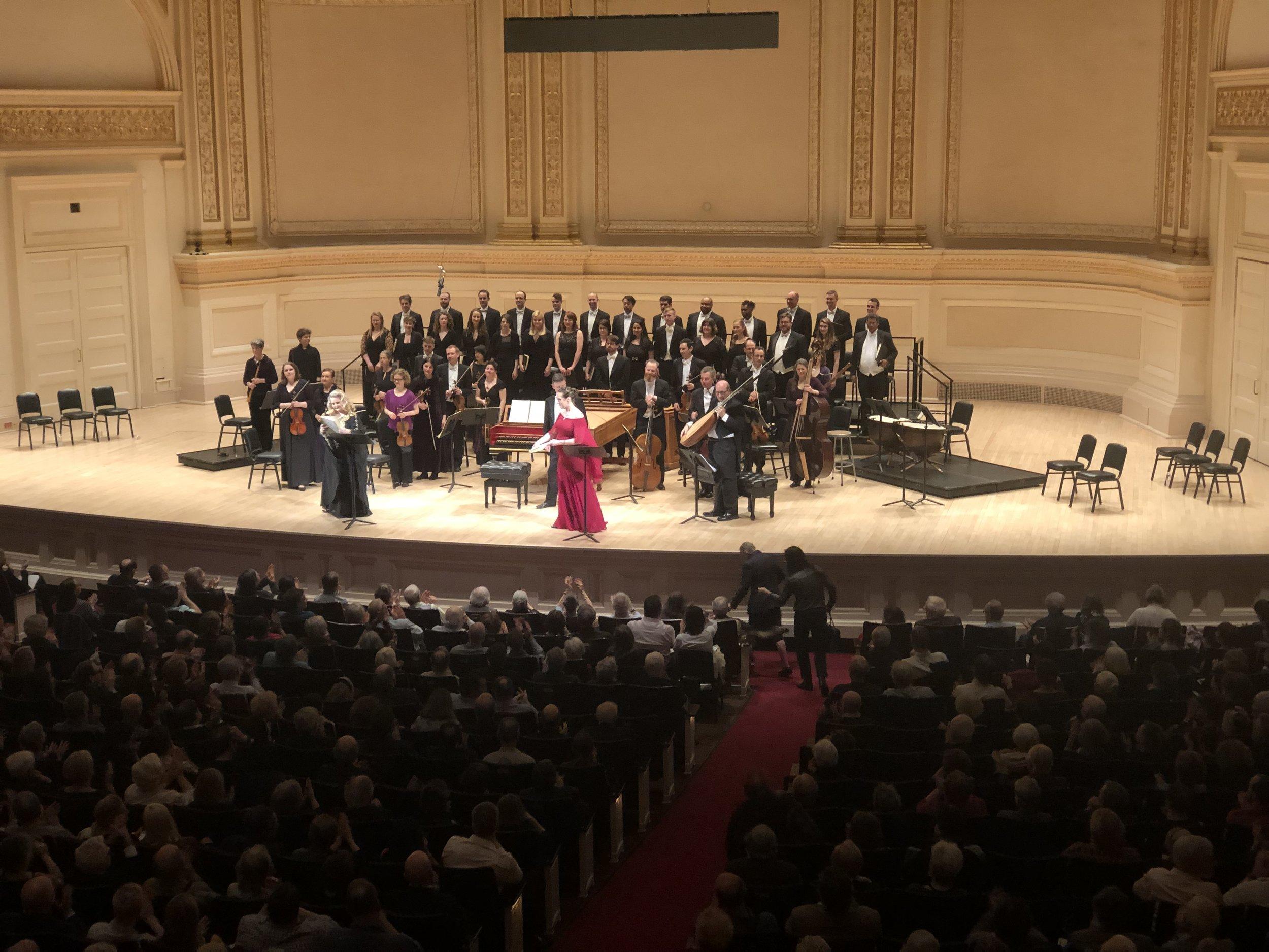 Semele - Carnegie Hall
