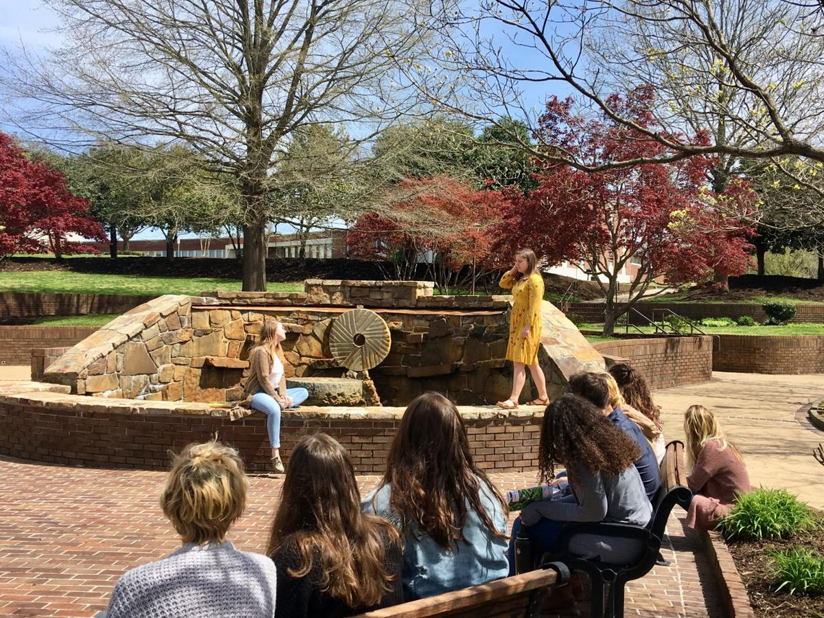 Advanced Directing students were recently challenged to perform scenes from various Shakespeare plays in locations on campus that would not typically be used for performances.  By Ashley Smith, Staff Reporter