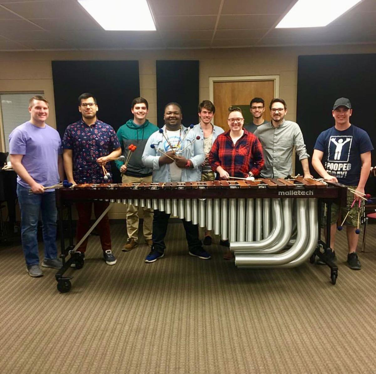 """""""'Marimba Madness' is an event where all of the students in the percussion studio, from freshmen to graduate students, get the opportunity to showcase a marimba piece they have recently been working on,"""" graduate student Susannah Clabough said.  Photo by Ashley Smith, Staff Reporter"""