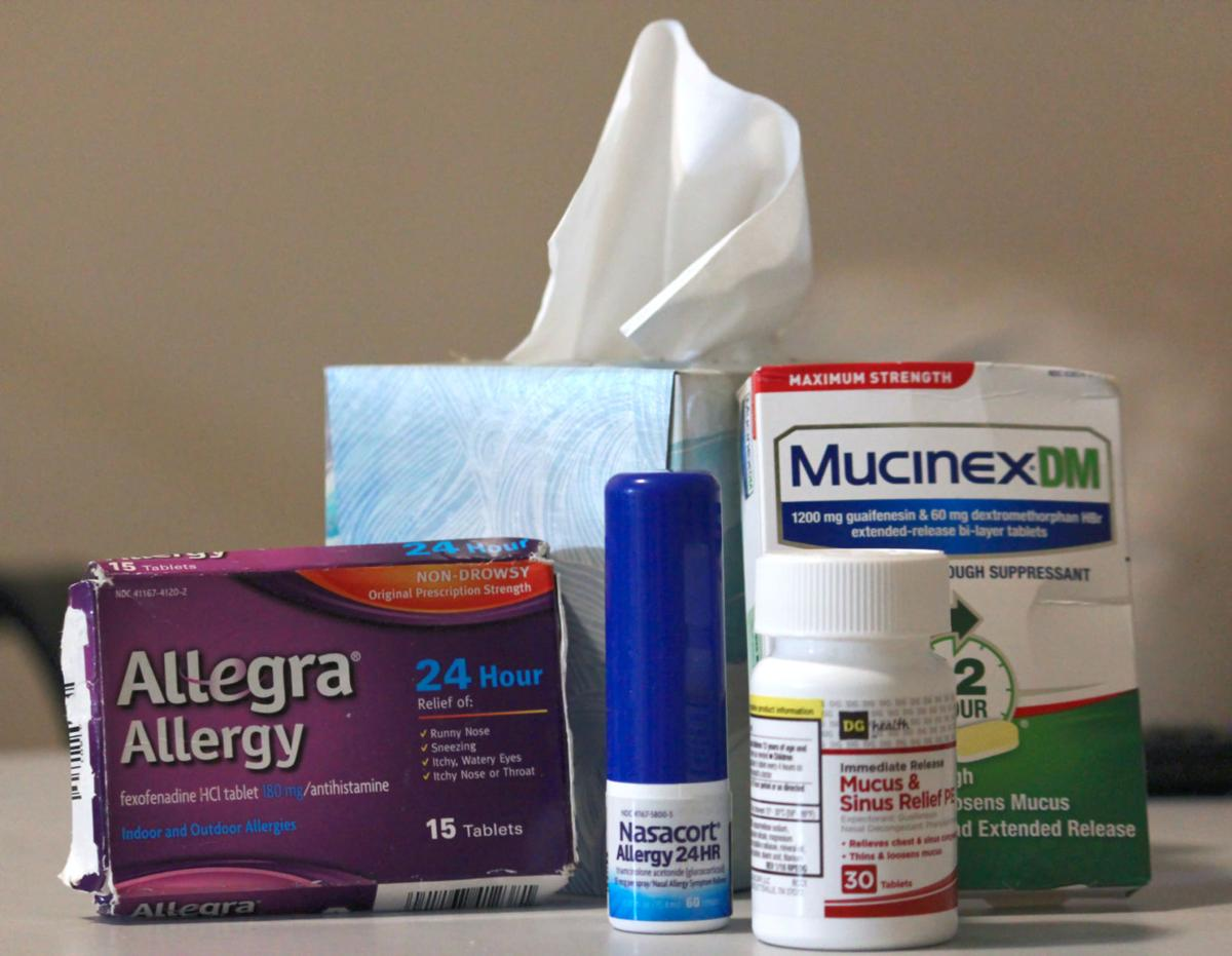 Some of the most common medications that help relieve the symptoms of seasonal allergies are Claritin, Allegra and Zyrtec. These medications can be easily found at your local drug stores.  Photo by Billie Burns