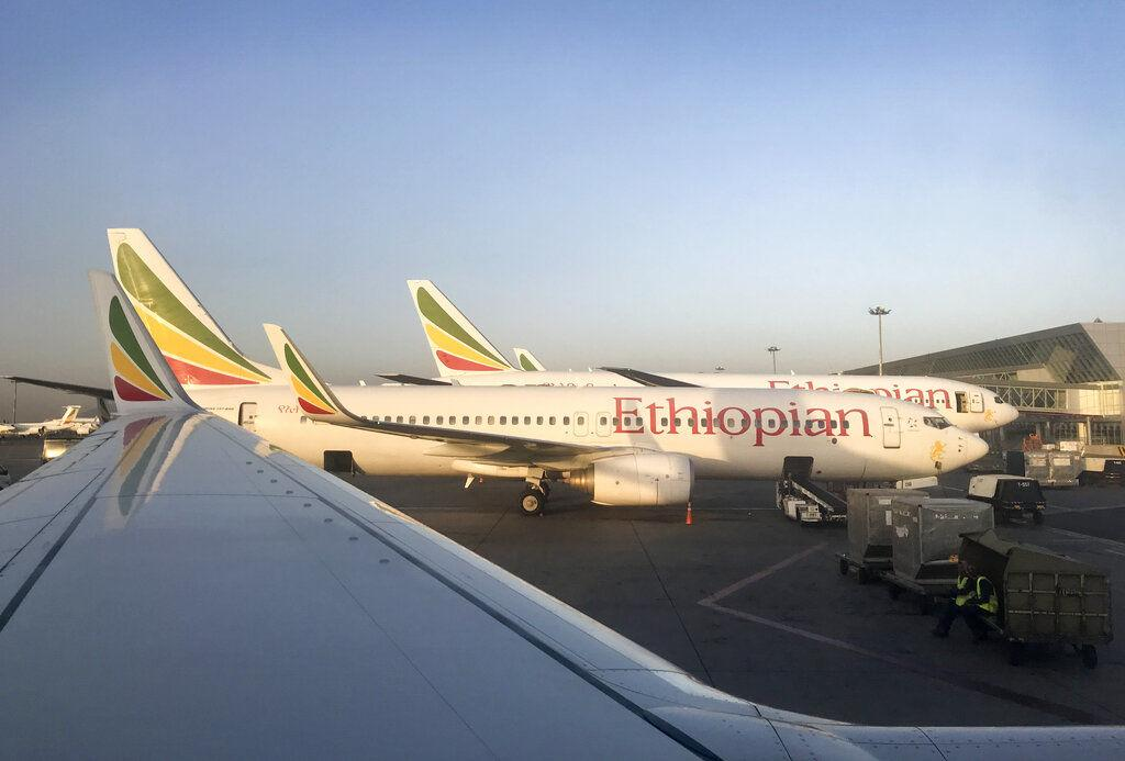 Ethiopian Airlines' Boeing 737 Max 8 jetliner carrying 157 people crashed shortly after takeoff Sunday, March 10, killing everyone aboard, authorities said.  Photo courtesy of Ben Curtis (AP Photo)