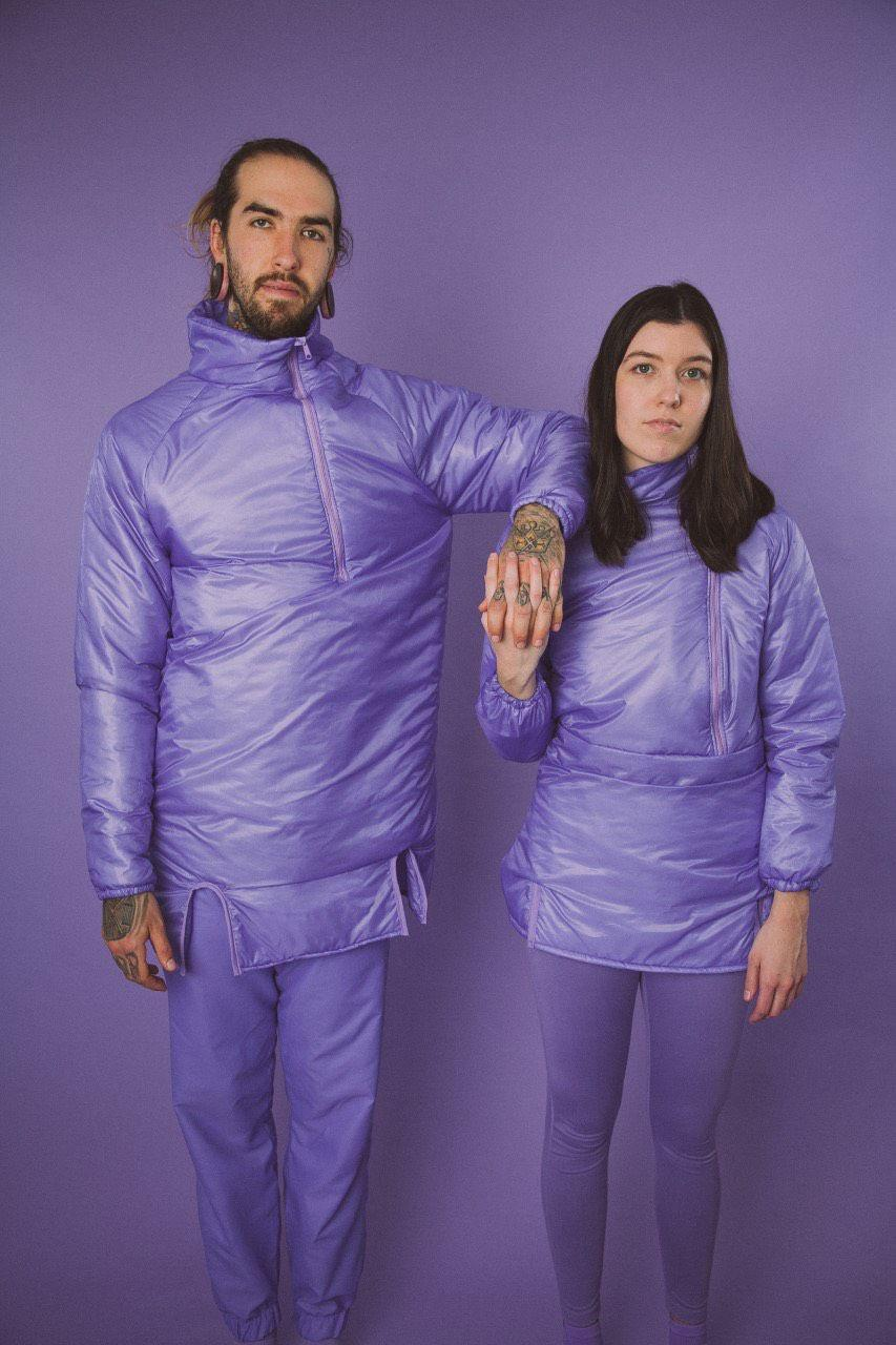 "Local husband and wife duo The Mailboxes are set to tour for the release of their album ""Inside Outside"" while hiking along the Appalachian Trail, wearing nothing but the color lavender.  Photo courtesy of The Mailboxes"