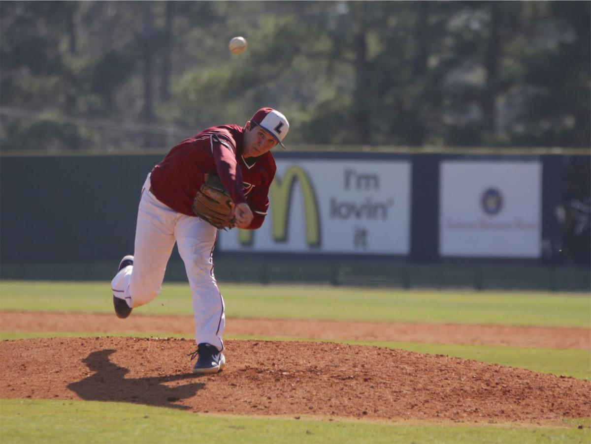 The Flames' opening day was especially important this season as the pitching lineup looks completely different from the past season due to missing eight offensive starters.  Photo by John David Clark