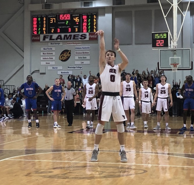 Cody Jones shoots a free throw in a tight game.