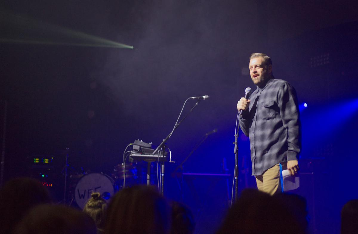 """""""Our hope is that, when we are done with the 'Real Life @ Lee' series, that students will simply talk, even if they do not agree,"""" said Campus Pastor Rob Fultz.  Photo by John David Clark, Photography Editor"""