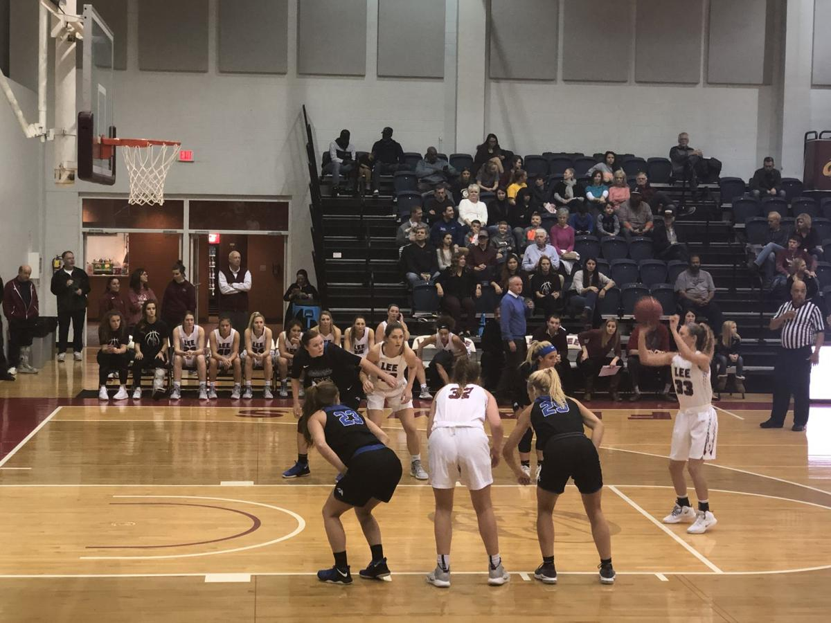 Haley Schubert shoots a free throw during Saturday's route of Alabama-Huntsville.  Courtesy of Ethan Mizell, Staff Reporter