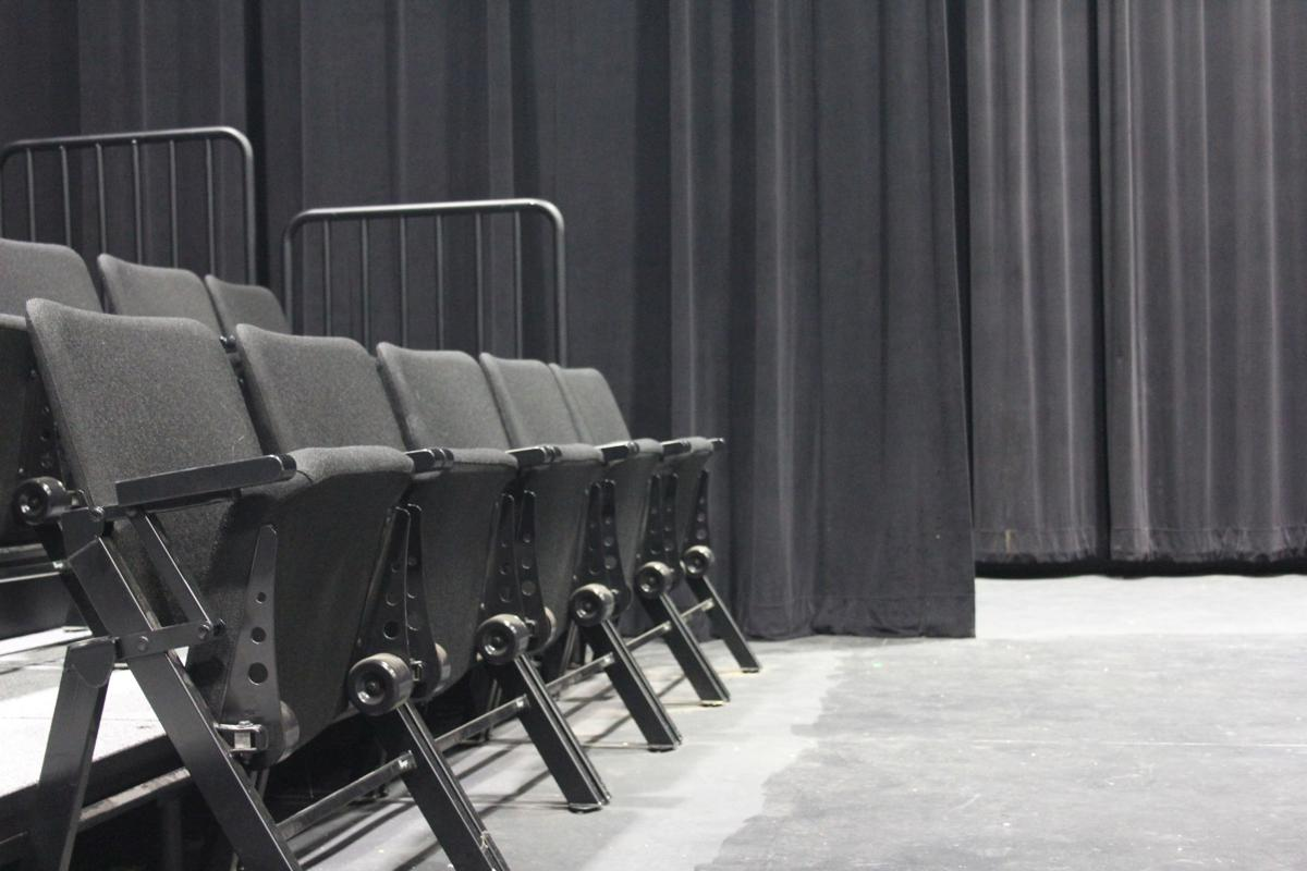 Buzz Oates Theater is quiet today, but last week's Director's Showcase made this the site for directing students to show their skills.  Staff Photo