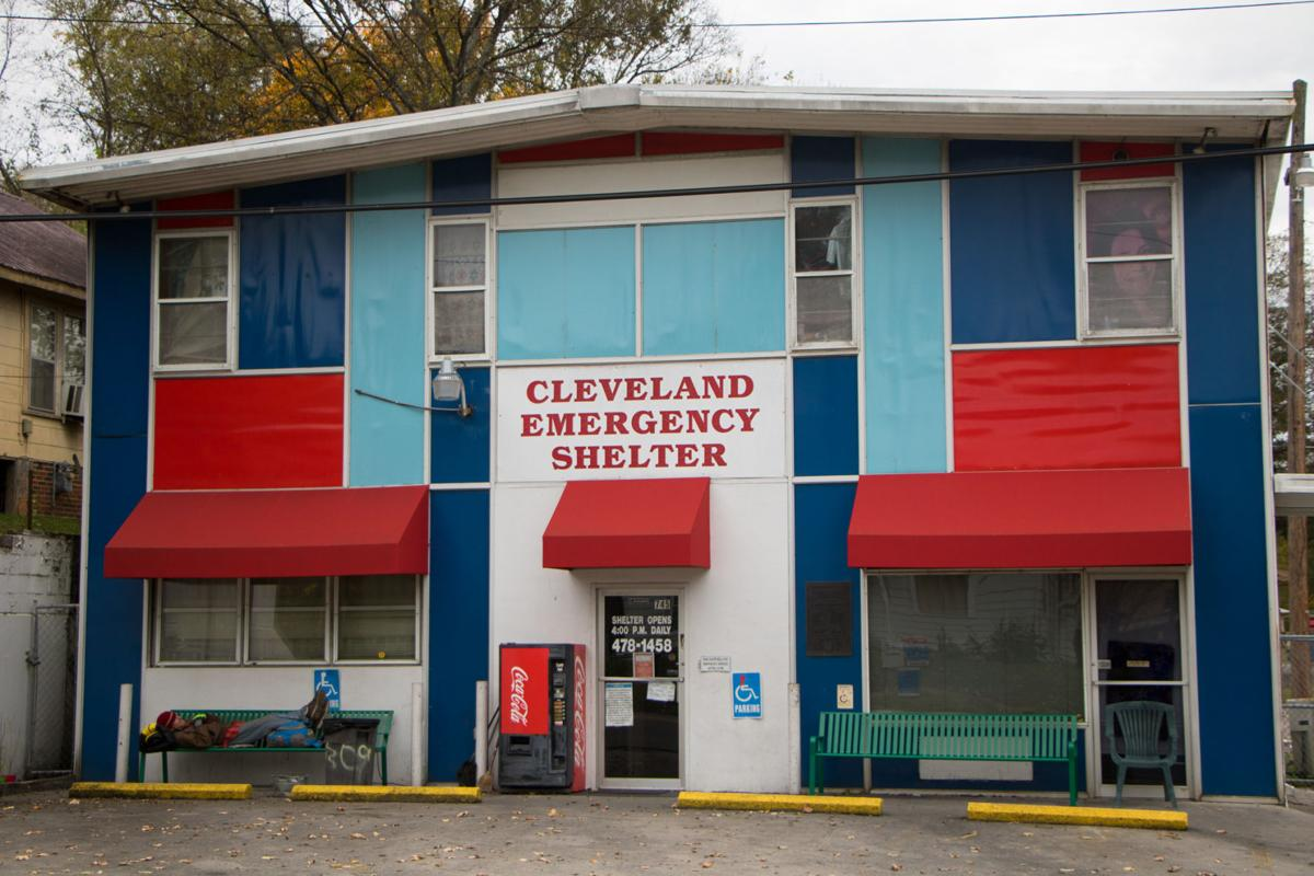 The front of the Cleveland Emergency Shelter.  Photo by Taylor Baker, Staff Photographer
