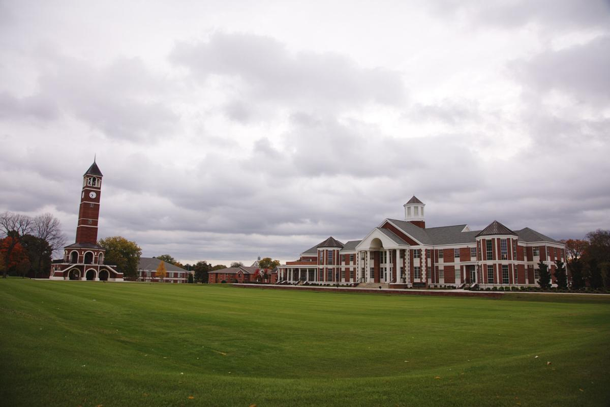 The new nursing building overlooks the lacrosse field on the south end of campus.  Photo by John David Clark
